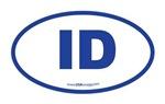Idaho ID Euro Oval BLUE