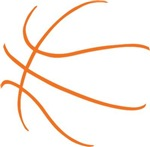 Basketball Ball Lines Orange