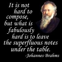 Brahms on Composing