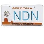 Navajo Nation NDN plate