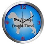BEAGLE TIME Wall Clocks