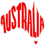 Australia in the shape of Australia!