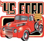 Vintage T-Shirts - 1945 Ford Pickup