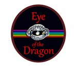 Dragon eye cases bags buttons and stickers