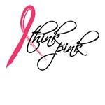 think pink, pink ribbon