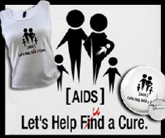 AIDS Awareness Apparel; find / fund a cure