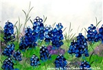 'Painting of Bluebonnets'