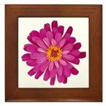 Framed Tile of Flowers