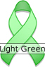 Light Green Ribbon for Celiac Disease Awareness