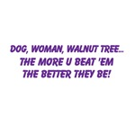 Dog, Woman, Walnut tree