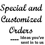 Special Orders Section - Ideas recommended by you