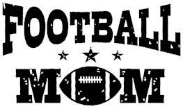 Football Mom t-shirts