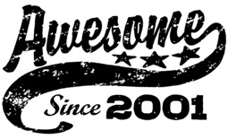 Awesome Since 2001 t-shirt