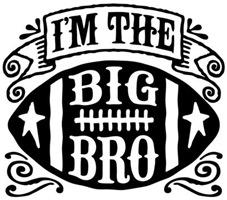 I'm The Big Bro Football t-shirt