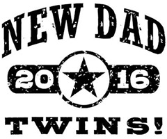 New Dad Twins 2016 t-shirt