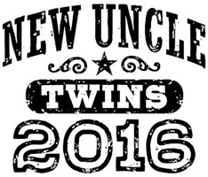 New Uncle Twins 2016 t-shirt