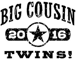 Big Cousin Twins 2016 t-shirt