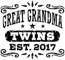 Great Grandma Twins Est. 2017 t-shirts