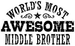 Awesome Middle Brother t-shirt