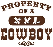 Property of a Cowboy t-shirts