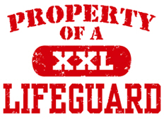 Property of a Lifeguard t-shirts