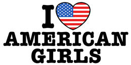I Love American Girls t-shirts