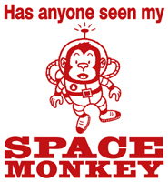 Space Monkey t-shirts