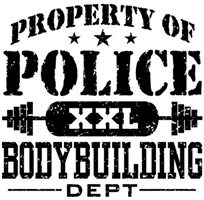 Property of Police Bodybuilding t-shirts