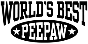 World's Best PeePaw t-shirts