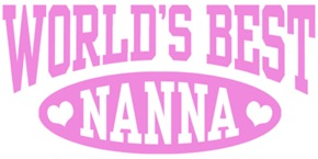 World's Best Nanna t-shirts