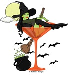 Halloween Martini Girl