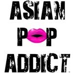 Asian Pop Addict Black & Pink T-Shirts