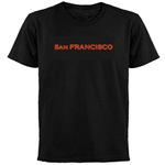 San Francisco Black T-Shirts