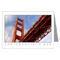 golden gate bridge photography greeting cards