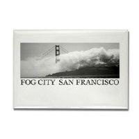 Fog City San Francisco Travel Magnet Gifts