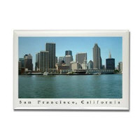 San Francisco Waterfront and Skyline Magnets