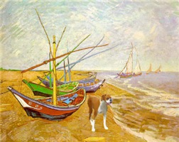 Van Gogh's fishing boats with boxer