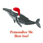 Personalized Christmas Humpback Whale