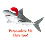 Personalized Christmas Shark