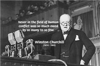 Churchill War Quote 'field of human conflict'