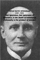 Whitehead Education: Philosophy Death of Ignorance