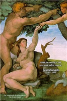 Michelangelo Fresco Sistine Chapel Adam and Eve