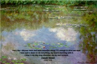 Monet Water Lillies Painting: Color & Beauty Quote