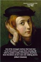 Italian Artist Correggio Painting & Einstein Quote