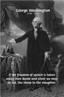 Founding U.S. President George Washington: Freedom