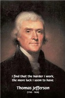 Work and Luck: American President Thomas Jefferson