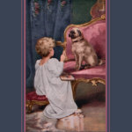 1920's Child and Pug ~