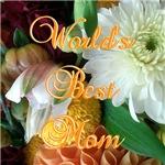 Worlds Best Mom Orange Floral