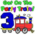 Party Train Three Year Old