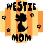 Westie Mom - Yellow/Orange Stripe